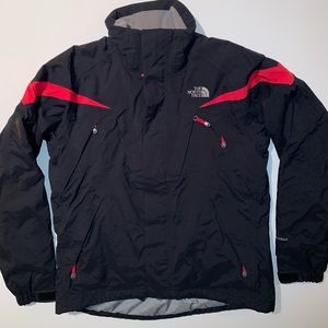 North Face Black/Red Hyvent Jacket RECCO Avalanche